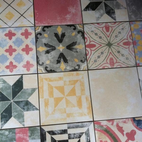 Keramische Vintage retro tegels Heritage 25 x 25 cm
