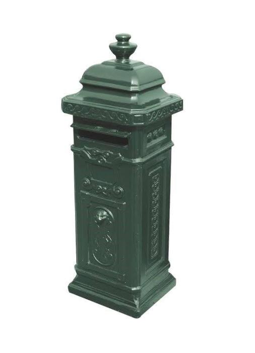 Betonnen brievenbus groen (1)