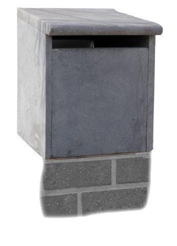 Blauwsteen brievenbus voor op zuil - Model 38