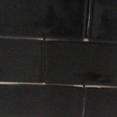 Keramische wandtegel Bronx zwart 7,5 x 30 cm
