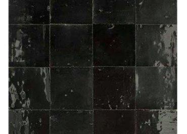 Marokkaanse handgemaakte zelliges zwart