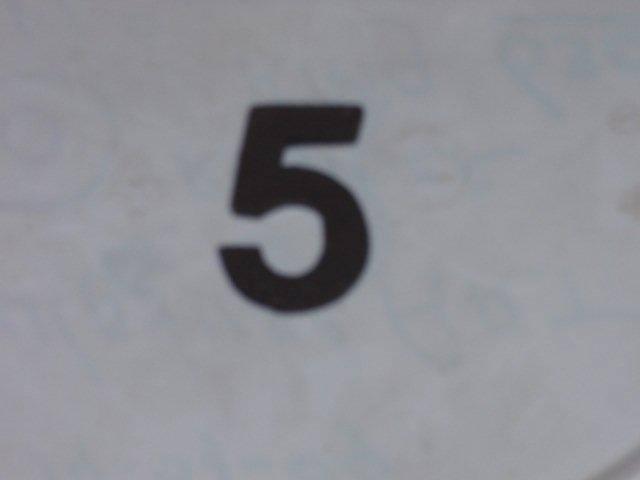 Zwart klein nr 5