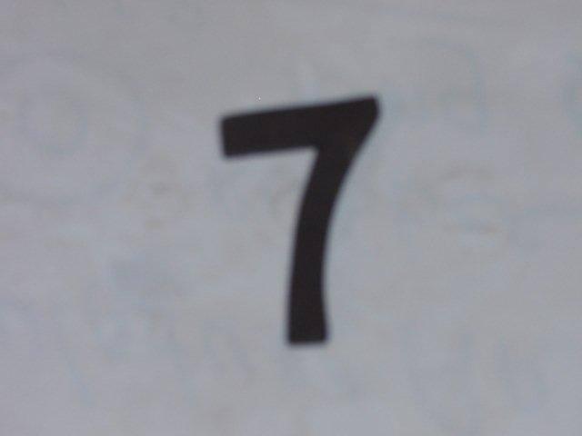 Zwart klein nr 7